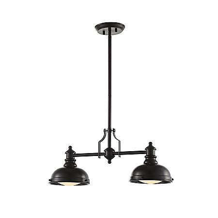 OVE Decors Bergin II Bronze Finish LED Integrated Pendant