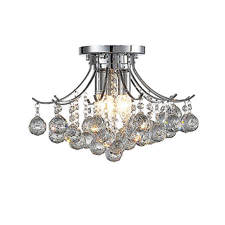 OVE Decors Warsaw Chrome Finish LED Integrated Chandelier