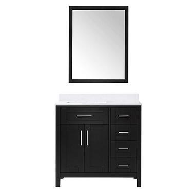 OVE Decors Tahoe 36 In. Bathroom Vanity With Mirror (Espresso)