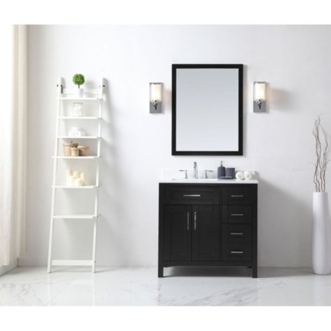 OVE Decors Tahoe 36 in. Bathroom Vanity with Mirror (Espresso)