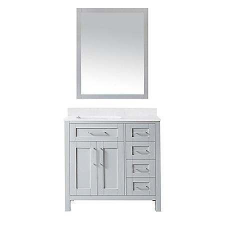 OVE Decors Tahoe 36 in. Bathroom Vanity with Mirror (Dove Grey)