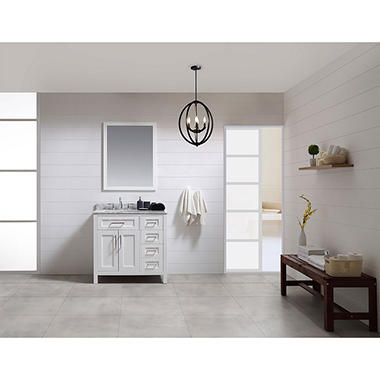 Ove Decors Tahoe 36 In Bathroom Vanity With Mirror White