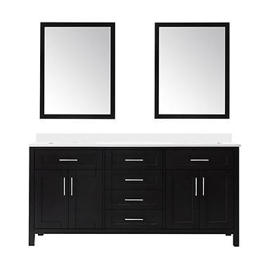 OVE Decors Tahoe 72 in. Bathroom Vanity with Mirror (Espresso) - Sam's Club