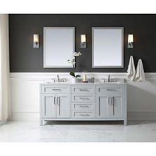 OVE Decors Tahoe 72 in. Bathroom Vanity with Mirror (Dove Grey)
