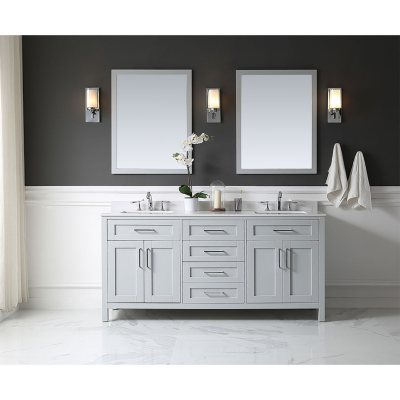 Bathroom Vanity With Mirror (Dove Grey)