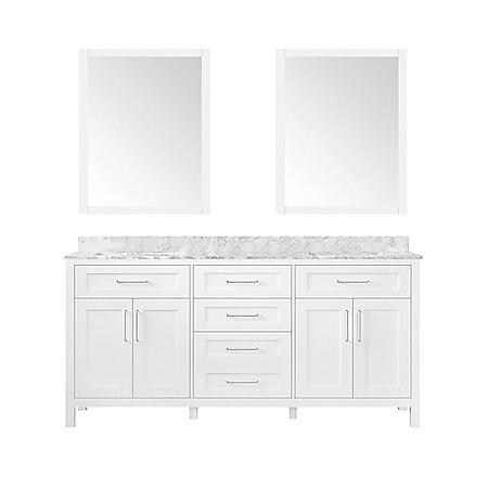 Ove Decors Tahoe 72 In Bathroom Vanity With Mirror White