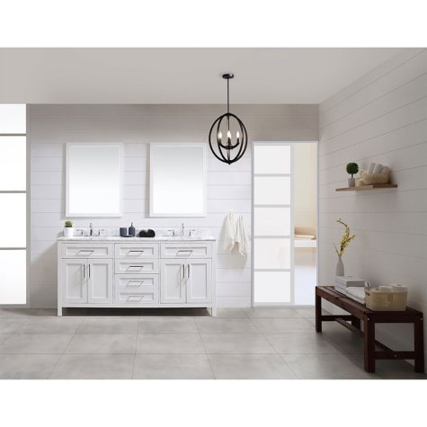 OVE Decors Tahoe 72 in. Bathroom Vanity with Mirror (White)
