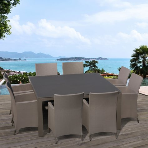 OVE Decors Calais 9-Piece Outdoor Dining Set, Square