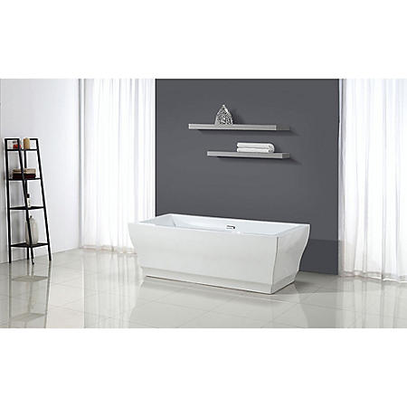 "OVE Decors Vita 69"" Seamless Freestanding Bathrub"