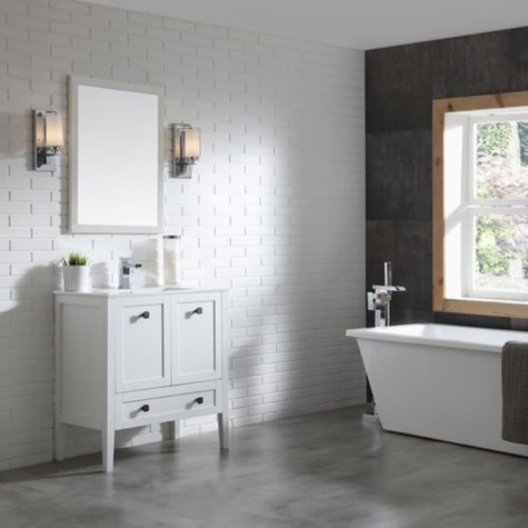 OVE Decors Andora 32-in. Bathroom Vanity in Matte White with Ceramic Countertop and Sink