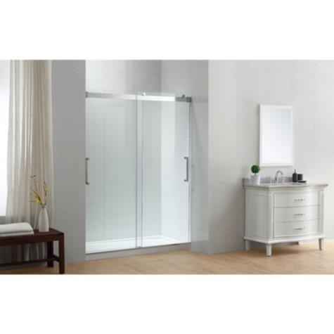 "OVE Decors Beacon 60"" Double Sliding Glass Shower Door"