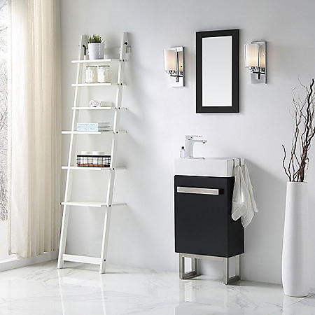 OVE Decors Mica 18-in. Space Saver Bathroom Vanity in Black