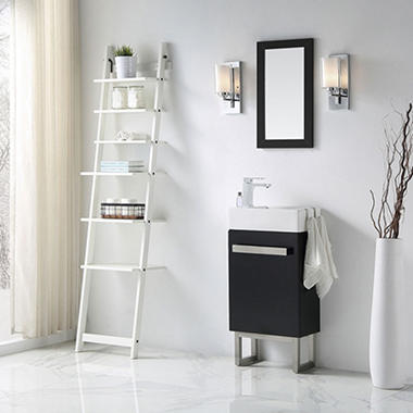 Space Saver Bathroom Vanity In Black