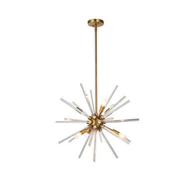 OVE Decors Harbin Bronze Finish LED Integrated Chandelier