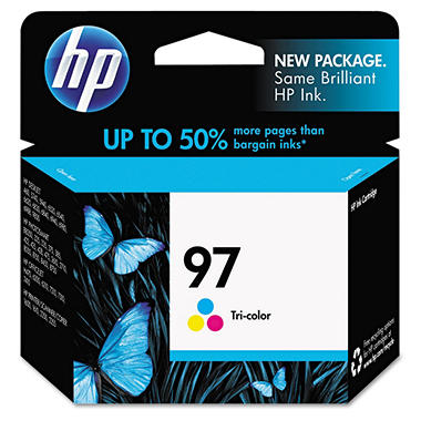 HP 97, (C9363WN) Original Ink Cartridge, Tri-Color
