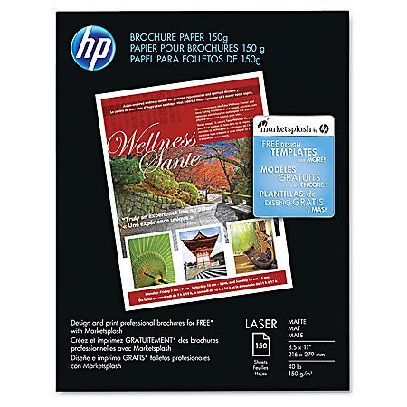 Hp Color Laser Brochure Paper 40lb 98 Bright 8 1 2 X 11