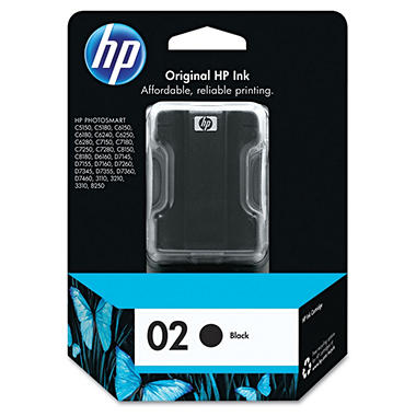 HP HP 02 (C8721WN) Original Ink Cartridge, Black