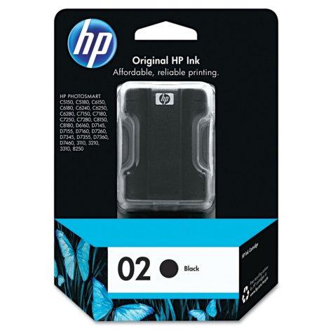 HP HP 02 (C8721WN) Original Ink Cartridge, Black