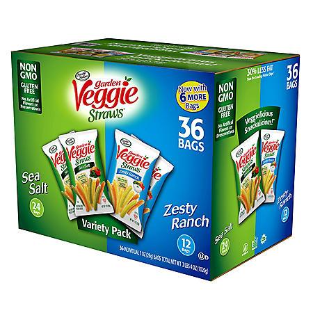 Sensible Portions Veggie Straws Variety Pack (1 oz., 36 pk.)
