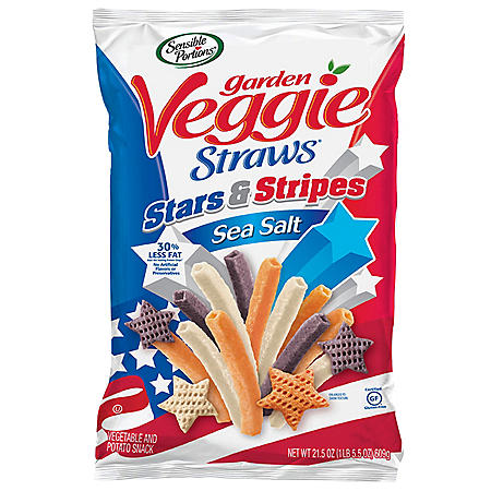 Sensible Portions Garden Veggie Straws Stars & Stripes (21.5 oz.)