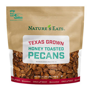 Texas Grown Honey Toasted Pecans (28 oz.)