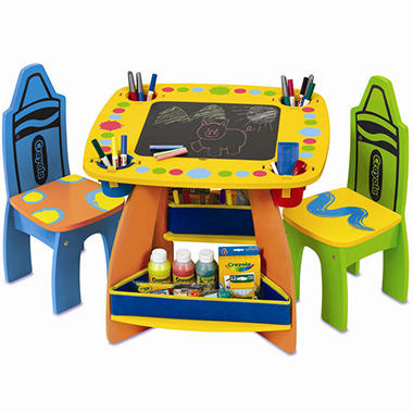 Crayola Wooden Table and Chairs Set - Sam\'s Club