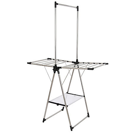 Greenway Stainless-Steel Indoor/Outdoor Compact Drying Center with Mesh Shelf