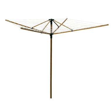 Greenway Large Outdoor Bamboo Rotary Clothesline