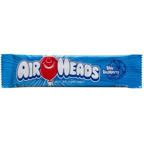 Airheads Blue Raspberry Flavored Candy .55 oz. Bar (36 ct.)