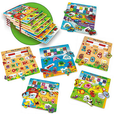 Pack Play and Learn Wood Puzzle Set - 6 pk.