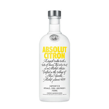Absolut Citron Vodka (750 ml)