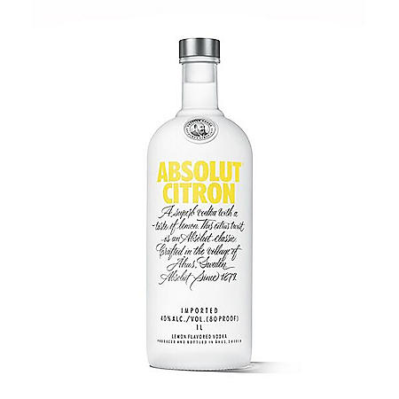 Absolut Citron Vodka (1 L)