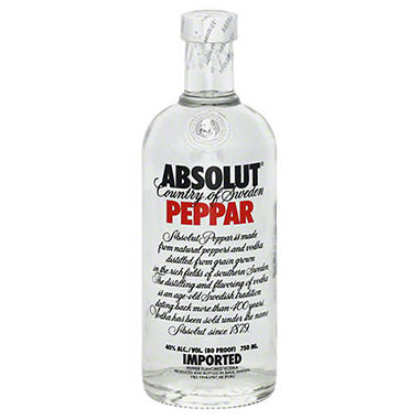 Absolut Peppar Vodka (750 ml)