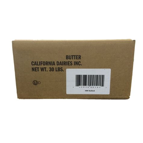 Salted Butter, Bulk Case (30 lbs.)