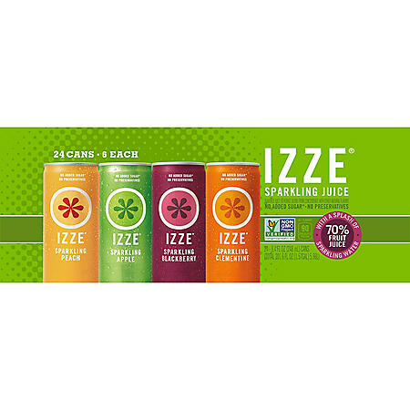 IZZE Sparkling Juice, Variety Pack (8.4 fl. oz. can, 24 ct.)