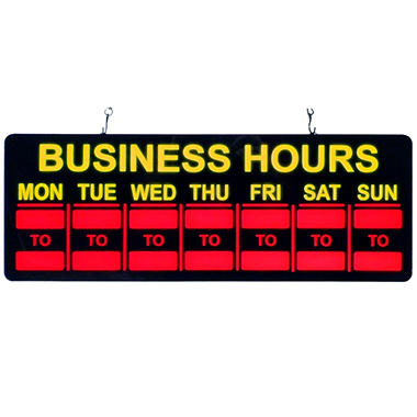 Mystiglo In-Light LED Business Hours Sign