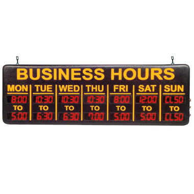 Mystiglo In-Light LED Digital Business Hours Sign