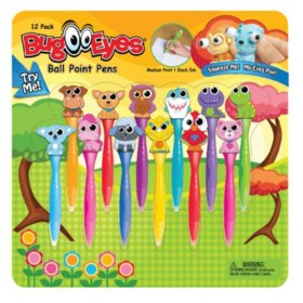Bug Eyes Pen Set, Assorted Animals, 12 Pack - Sam's Club