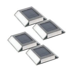 Solar Powered Pathway Light in Stainless Steel (4 pk.)