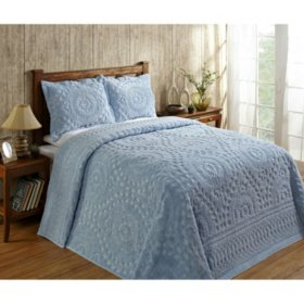 Better Trends Rio Cotton Chenille Bedspread (Assorted Colors and Sizes)