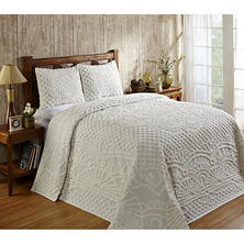Trevor Bedspread with Shams - Various Sizes and Colors