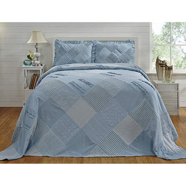 Chenille Patchwork Bedspread