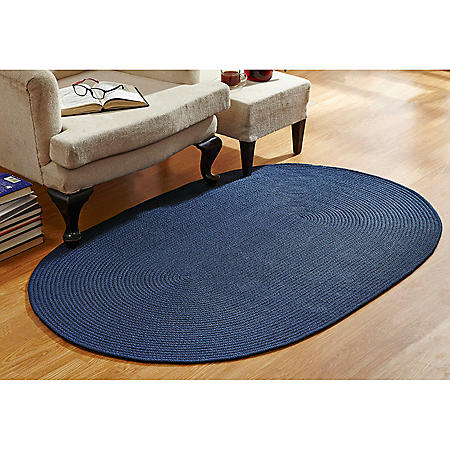 CountryBraid Solid Blue Braided Rug