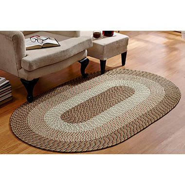 CountryBraid Stripe Straw Braided Rug