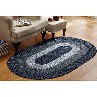 CountryBraid Stripe Blue Braided Rug