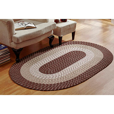 CountryBraid Stripe Brown Braided Rug