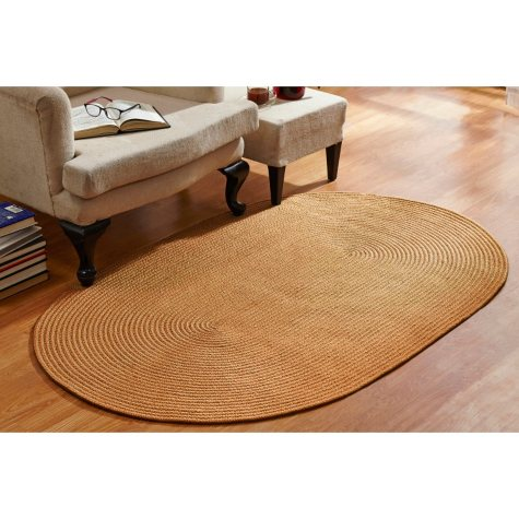 CountryBraid Solid Straw Braided Rug