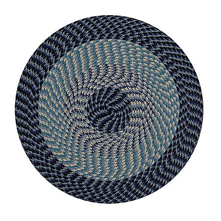 Alpine 6' Round Braided Rug (Assorted Colors)
