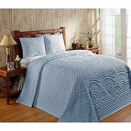 Better Trends Trevor Cotton Bedspread Set (Assorted Colors and Sizes)