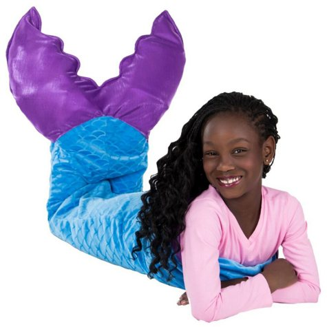 Kid's Plush Mermaid Tails (Assorted Colors)